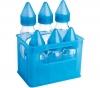 DBB REMOND 6 Milchfläschchen aus Glas blau (3 x 250 ml + 3 x 110 ml) + Kautschuk-Schnuller für Kleinkinder Marienkäfer - mit Auto-Verschlusstechnik
