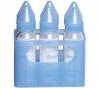 DBB REMOND Glas-Babyflaschen im 6er Set - Farbe Blau (6 x 250 ml) + Kautschuk-Schnuller für Kleinkinder Marienkäfer - mit Auto-Verschlusstechnik