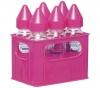 DBB REMOND Glas-Babyflaschen im 6er Set - Farbe Rosa (6 x 250 ml) + Abtropfgitter für Babyflaschen