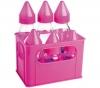 DBB REMOND 6 Milchfläschchen aus Glas rosa (3 x 250 ml + 3 x 110 ml) + Kautschuk-Schnuller für Kleinkinder Marienkäfer - mit Auto-Verschlusstechnik