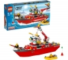 LEGO City - Feuerwehrboot - 7207 + City - Feuerwehrlöschzug - 7239 + City - Feuerwehr Pick Up und sein Anhänger - 7942