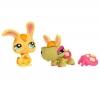 HASBRO Littlest Petshop - Petshop Duo oder mit Accessoires Schildkröte und Kaninchen - 93653
