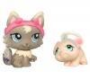 HASBRO Littlest Petshop - Petshop Duo oder mit Accessoires - Katze und Maus 94099 + Littlest Petshop - Petshop Duo Seepferdchen und Corgi 94850
