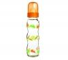 DBB REMOND Babyflasche Régul'Air Hasen mit orangefarbenem Deckel (290 ml) + Abtropfgitter für Babyflaschen