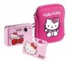 INGO Digitalkamera-Set Hello Kitty + Etui + SD Speicherkarte 2 GB