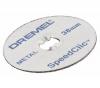 DREMEL 12er Pack SpeedClic Trennscheiben 38 mm zum Schneiden von Glasfaser - 2615S456JD