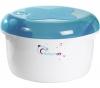 BABYMOOV Mikrowellen-Sterilisator Blau/Pflaume + Fläschchen Sonderedition ohne BPA (240 ml)
