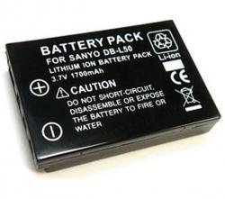 EFORCE Akku DB-L50 für Sanyo + SD Speicherkarte 2 GB