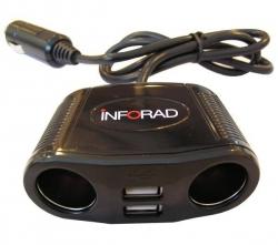 INFORAD Zigarettenanzünder-Doppelstecker mit USB